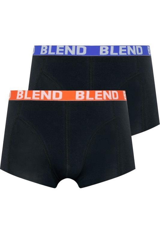 Men's Boxers & Briefs BLEND 2 Pack Black Classic Boxers