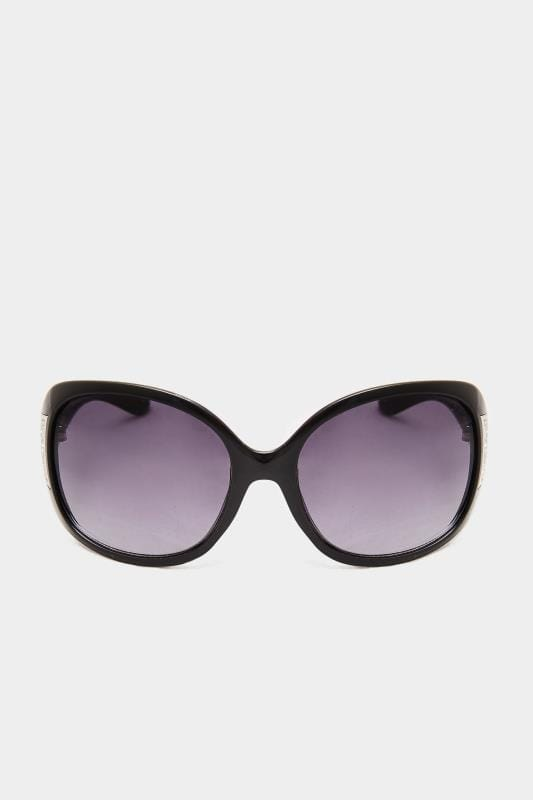Black Oversized Filigree Sunglasses