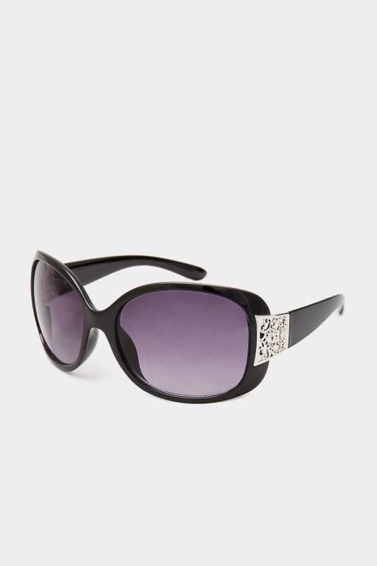 Sunglasses Tallas Grandes Black Oversized Filigree Sunglasses