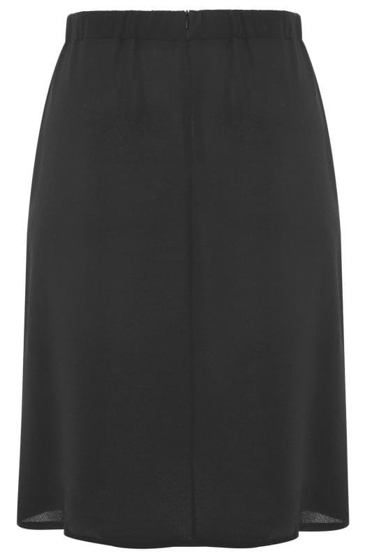 Black Side Split Midi Skirt