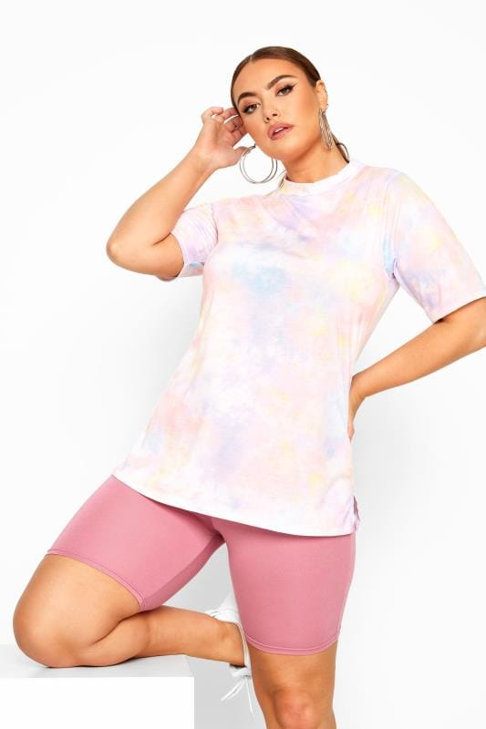 Plus Size Jersey Shorts LIMITED COLLECTION Blush Pink Cycling Shorts