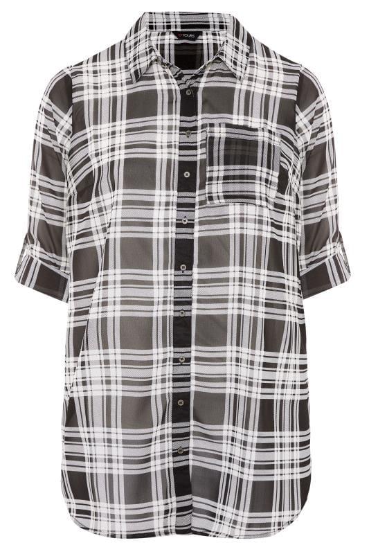Black & White Check Boyfriend Shirt