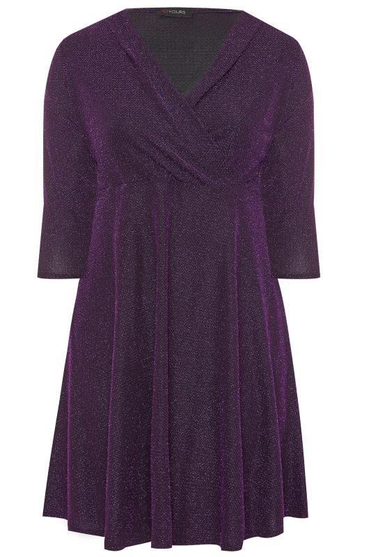 Purple Sparkle Skater Dress