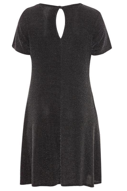 Swing-Kleid mit Glitzer - Schwarz