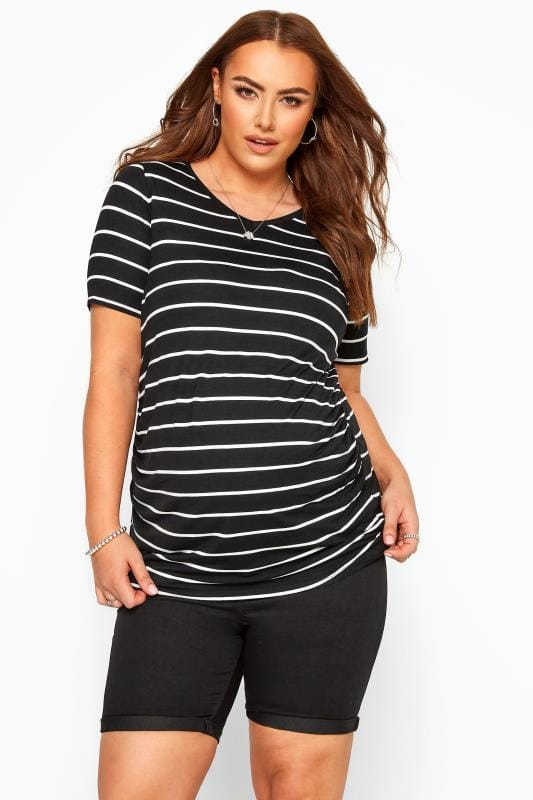 Maternity Jeans & Jeggings Grande Taille BUMP IT UP Black Jegging Shorts