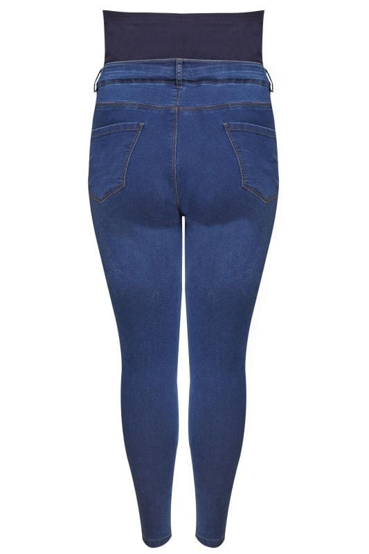 BUMP IT UP Indigo Blue Super Stretch Skinny Jeggings With Comfort Panel