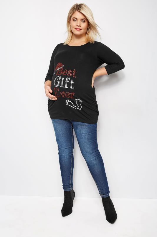 BUMP IT UP MATERNITY Zwart 'Best Gift Ever' shirt