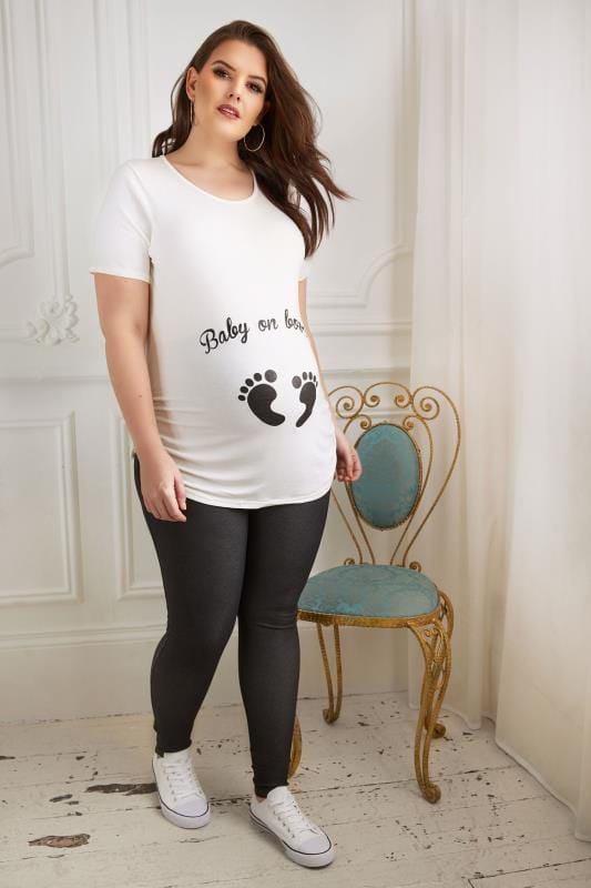 BUMP IT UP MATERNITY Black Jeggings With Comfort Panel