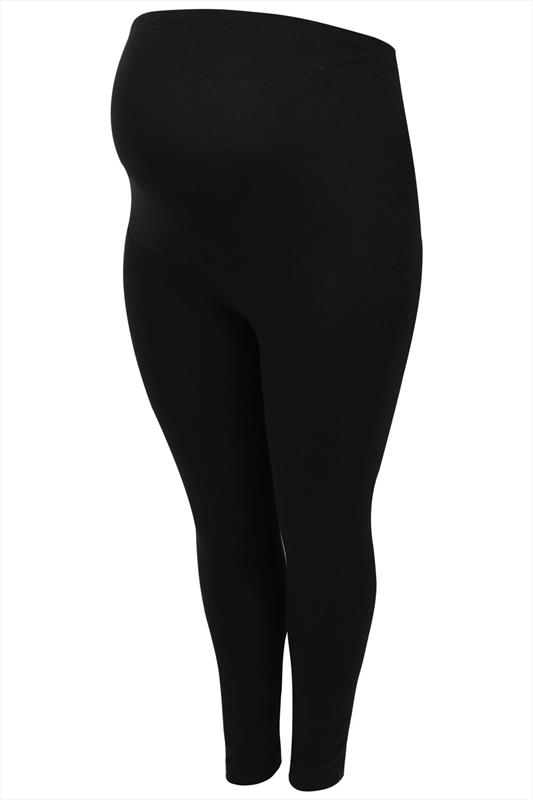 BUMP IT UP MATERNITY Black Soft Touch Leggings With Tummy Control Panel