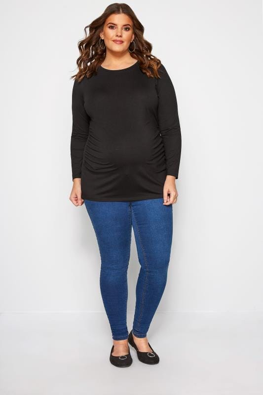 BUMP IT UP MATERNITY Black Long Sleeve Top