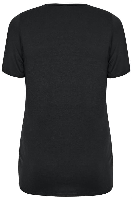 BUMP IT UP MATERNITY Black V-Neck T-Shirt
