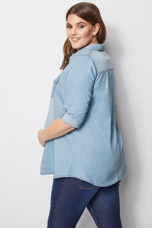BUMP IT UP MATERNITY Blaues Jeanshemd