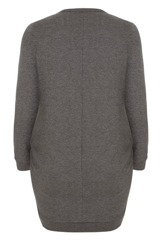 BUMP IT UP MATERNITY Grey Sweatshirt Dress