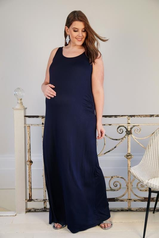 BUMP IT UP MATERNITY Navyblaues Maxikleid
