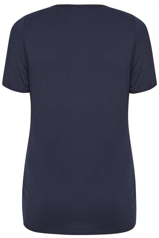 BUMP IT UP MATERNITY Navy V-Neck T-Shirt