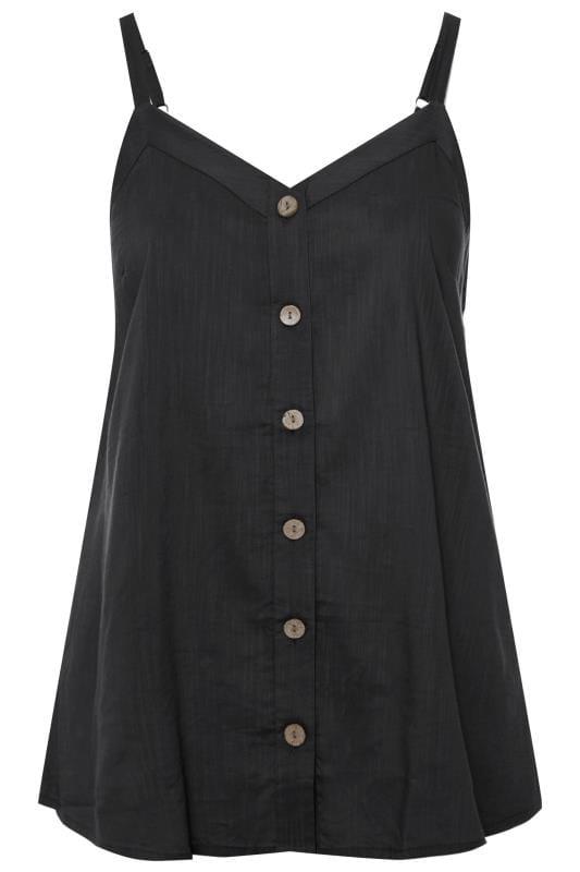 Black Button Cami Top