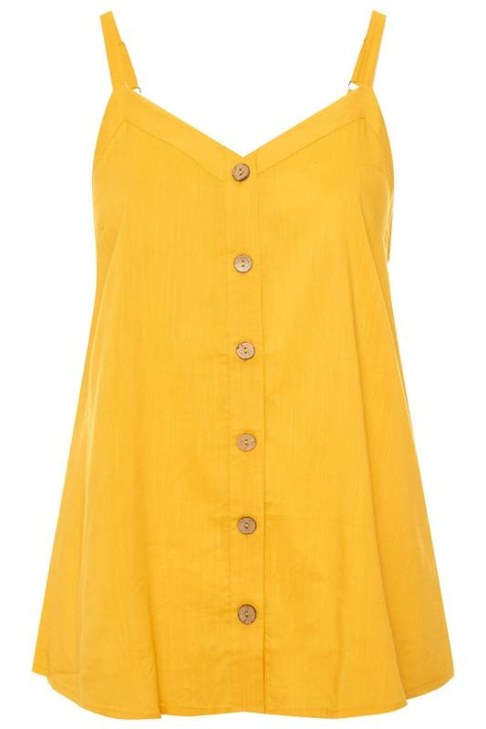 Yellow Button Cami Top