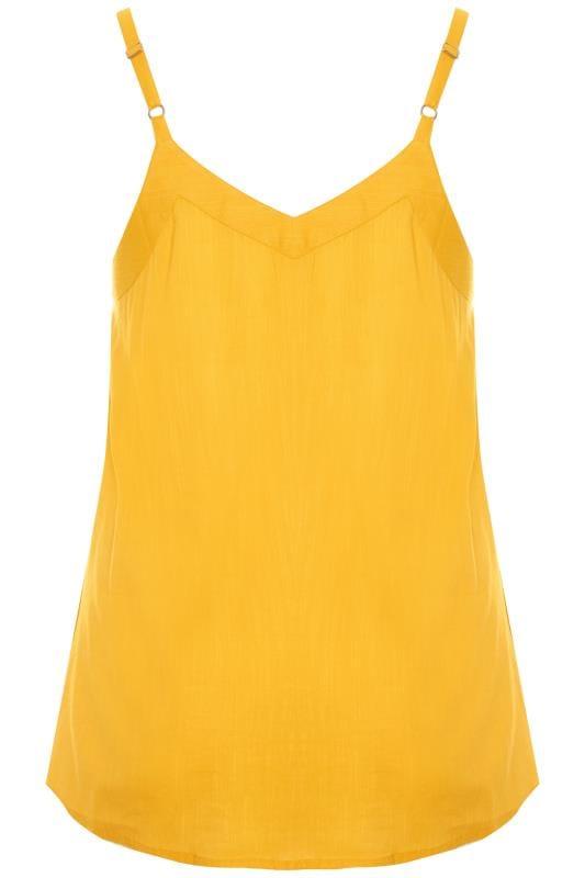 Yellow Button Cami Top
