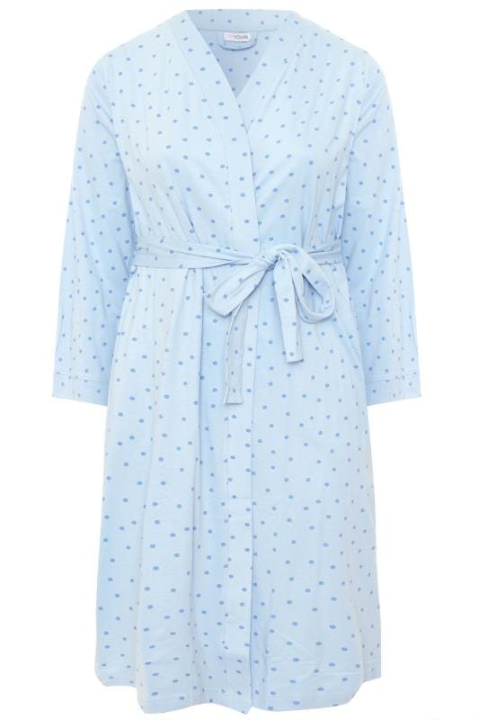 Baby Blue Spot Print Robe