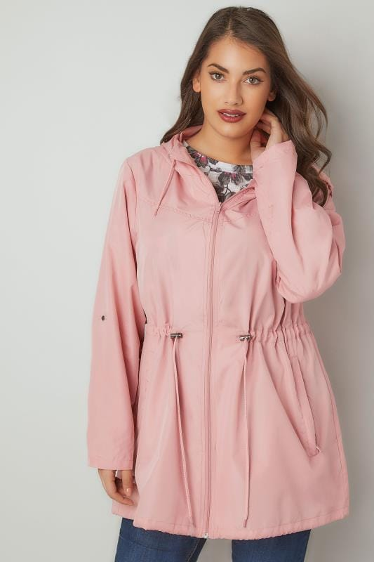 Baby Pink Pocket Parka Jacket