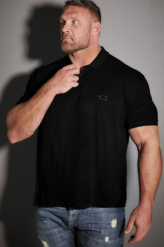 BadRhino Black Basic Polo Shirt