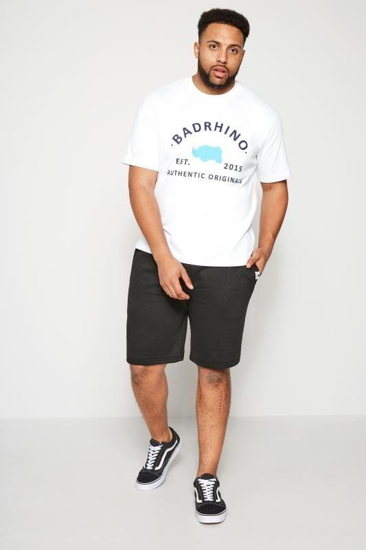 BadRhino Black Basic Sweat Shorts