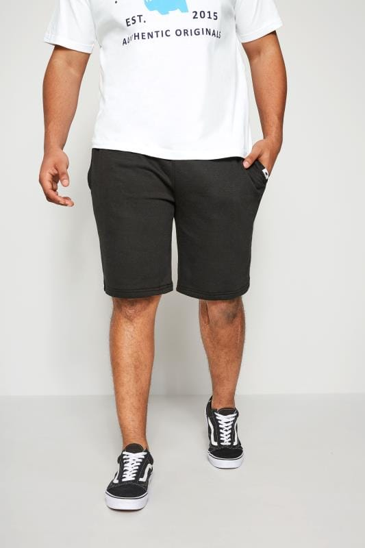 Jogger Shorts dla puszystych BadRhino Black Basic Sweat Shorts