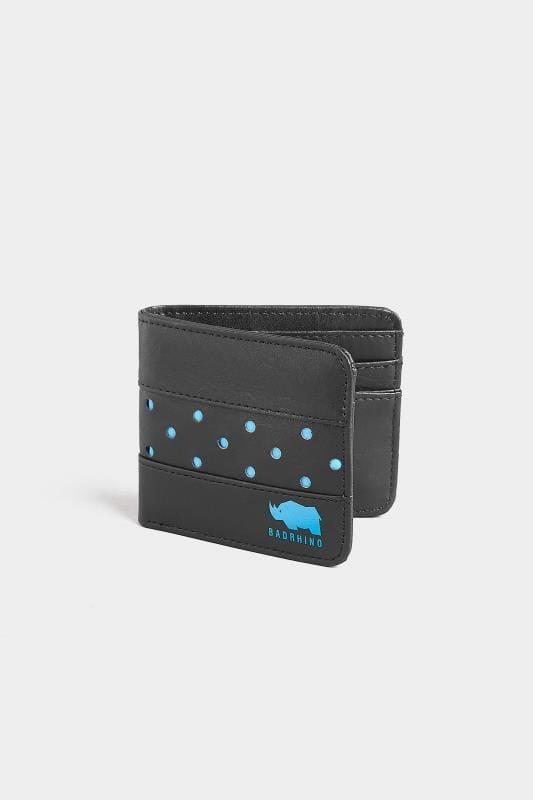 Gifts  BadRhino Black & Blue Perforated Bi-Fold Wallet 200526
