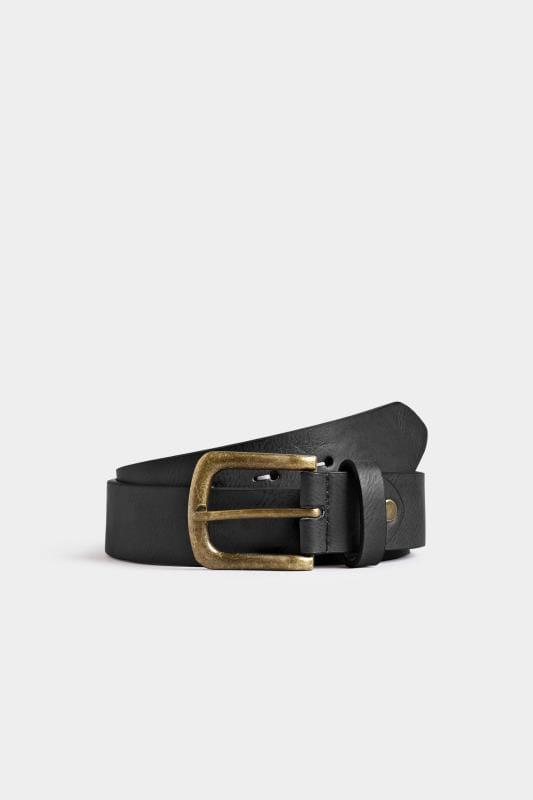 Plus Size Belts & Braces BadRhino Black Bonded Leather Belt