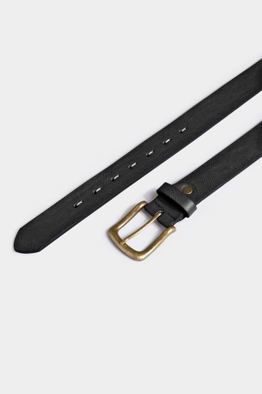 BadRhino Black Bonded Leather Belt