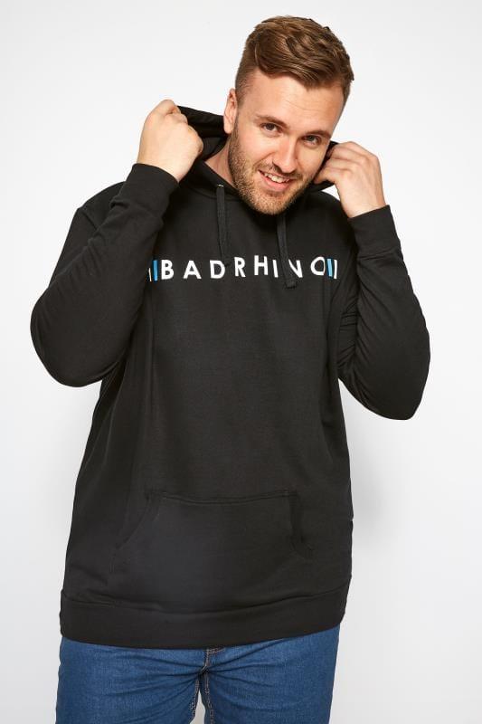Hoodies dla puszystych BadRhino Black Logo Branded Hoodie