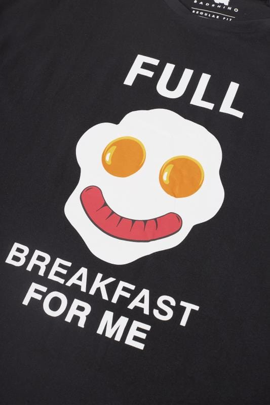 BadRhino Black 'Breakfast For Me' Pyjama Set