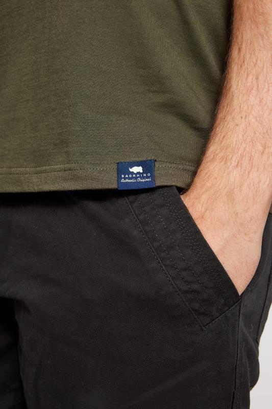 BadRhino Black Cargo Shorts With Canvas Belt