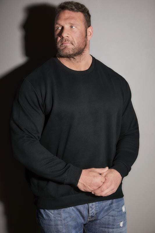 BadRhino Black Crew Neck Sweatshirt