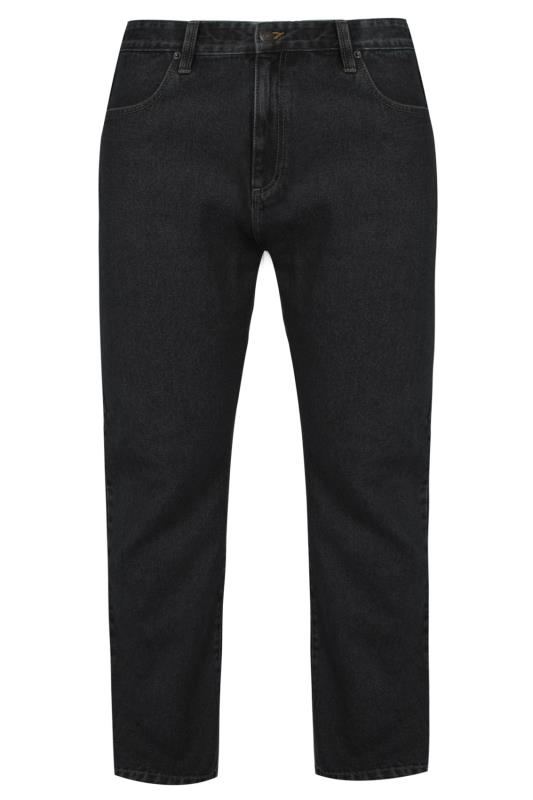 Großen Größen Straight BadRhino Black Denim Stretch Straight Leg Jeans