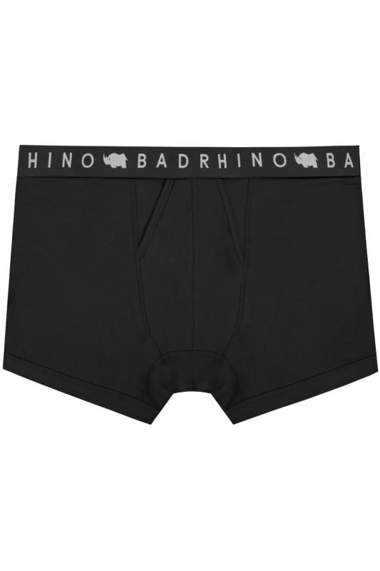 BadRhino Black Elasticated A Front Boxers