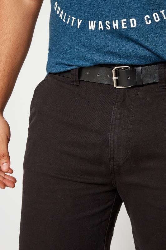 BadRhino Black Five Pocket Chino Shorts With Belt