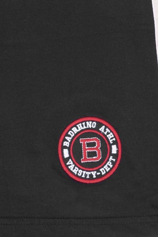 BadRhino Black Jersey Sports Tape Shorts