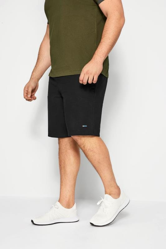 Plus-Größen Jogger Shorts BadRhino Black Jogger Shorts