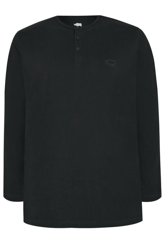 BadRhino Black Logo Embroidered Grandad T-Shirt