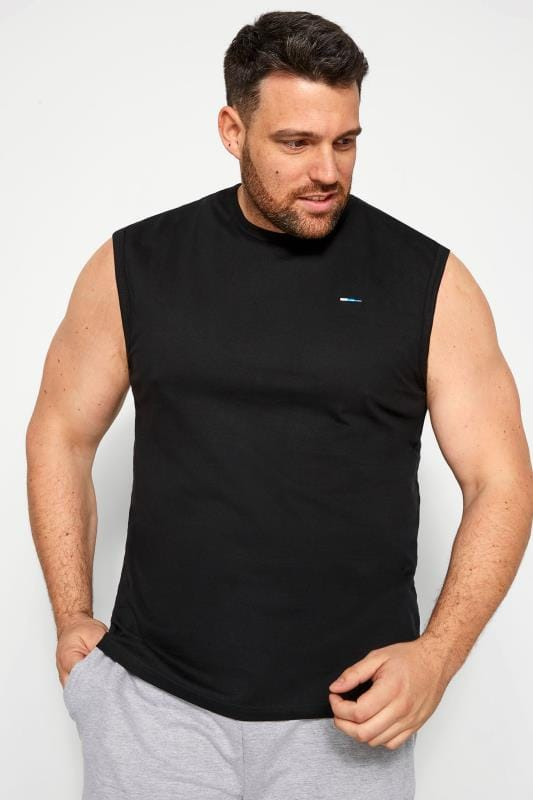 Plus Size Vests BadRhino Black Muscle Vest
