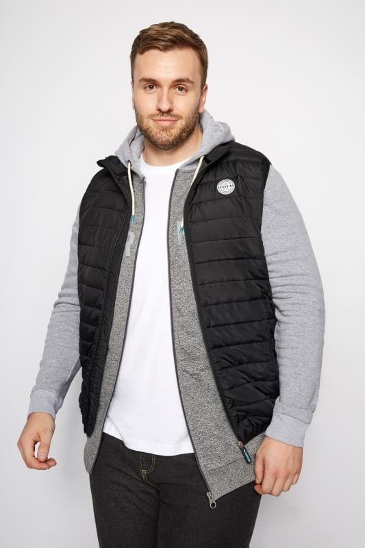 BadRhino Black Padded Gilet With Shower Resistant Finish