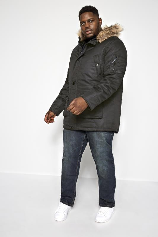 BadRhino Black Parka Coat