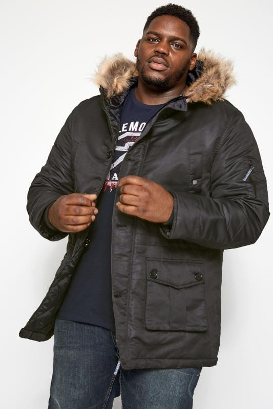 Men's Coats BadRhino Black Parka Coat