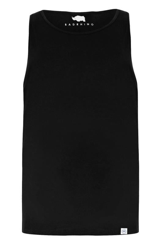 BadRhino Black Plain Crew Neck Cotton Vest_1045.jpg