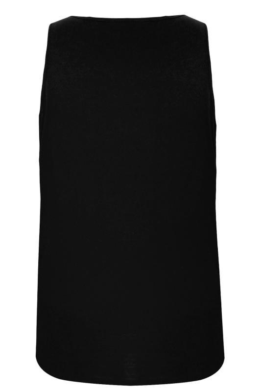 BadRhino Black Plain Crew Neck Cotton Vest_8521.jpg
