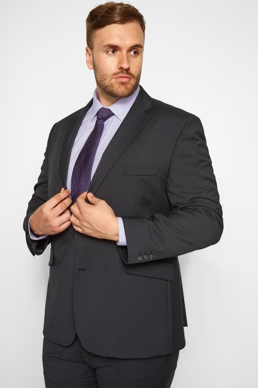 Plus Size Suit Jackets BadRhino Black Regular Suit Jacket