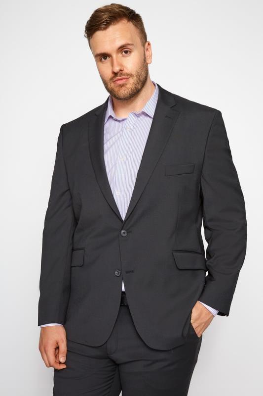 BadRhino Black Regular Suit Jacket