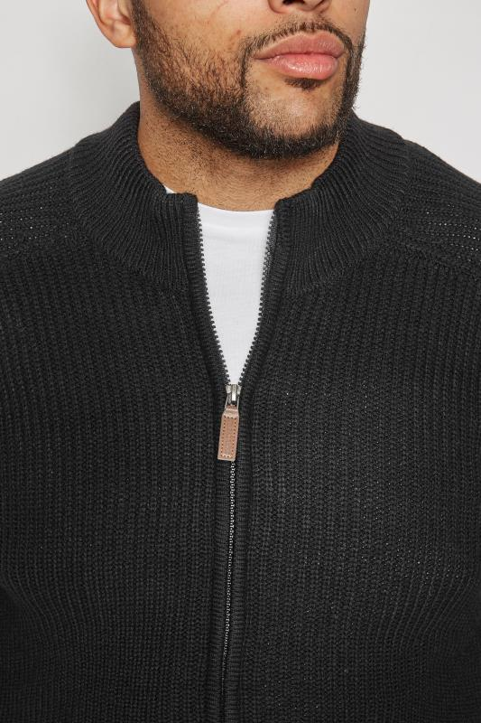 BadRhino Black Rib Knit Sweater With Funnel Neck