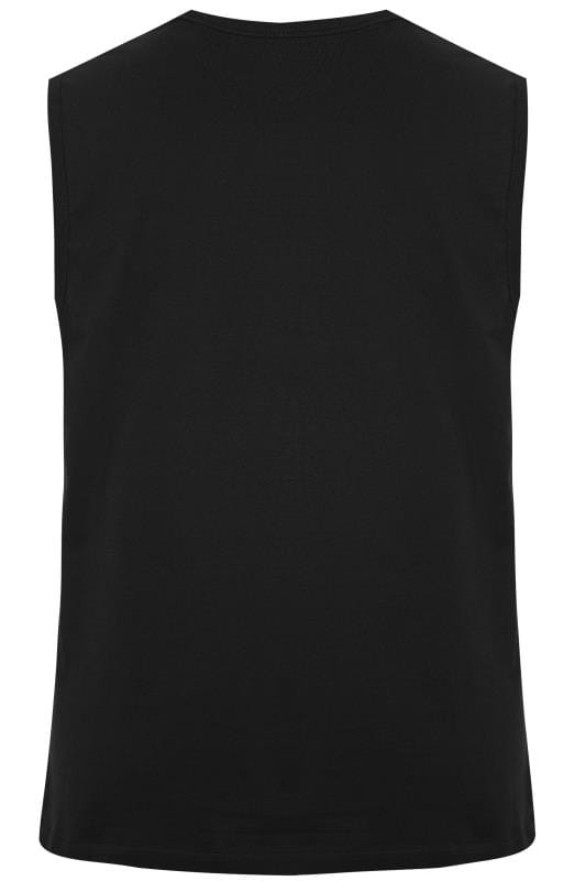 BadRhino Black 'Rough Wheel' Slogan Vest Top